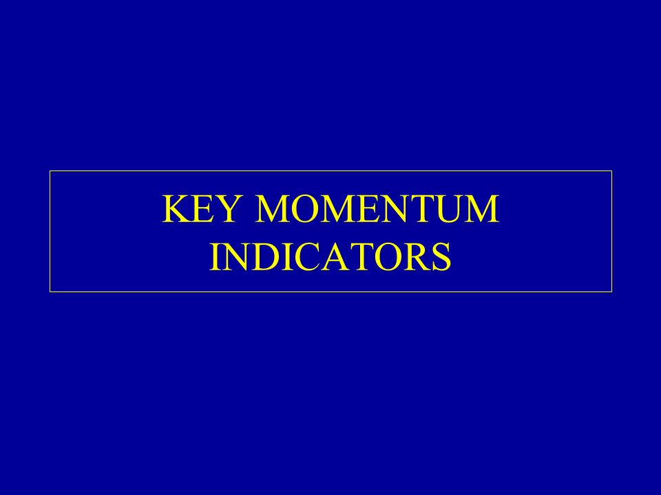 KEY MOMENTUM INDICATORS