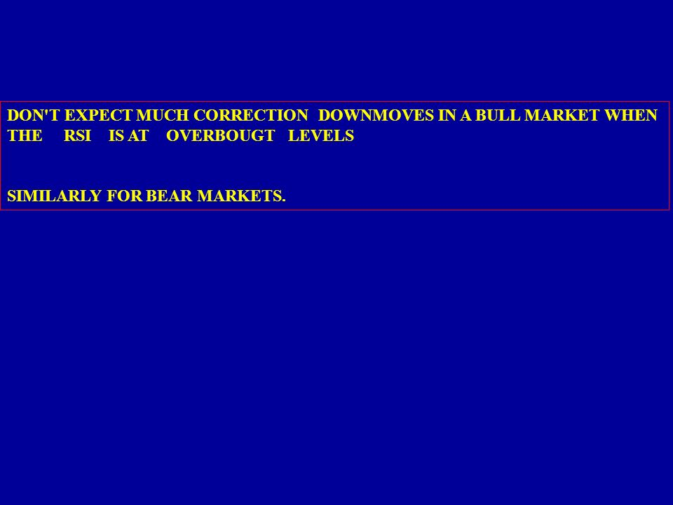 DON T EXPECT MUCH CORRECTION DOWNMOVES IN A BULL MARKET WHEN
