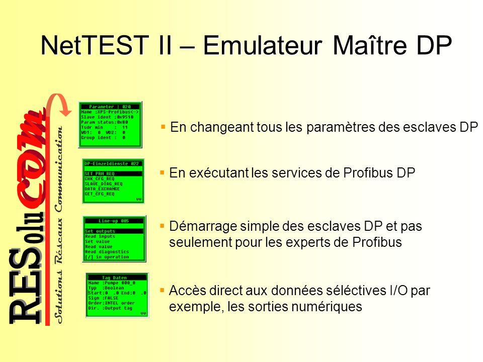 NetTEST II – Emulateur Maître DP
