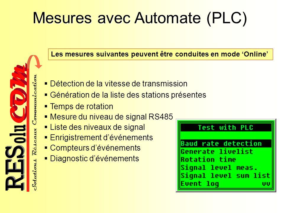 Mesures avec Automate (PLC)