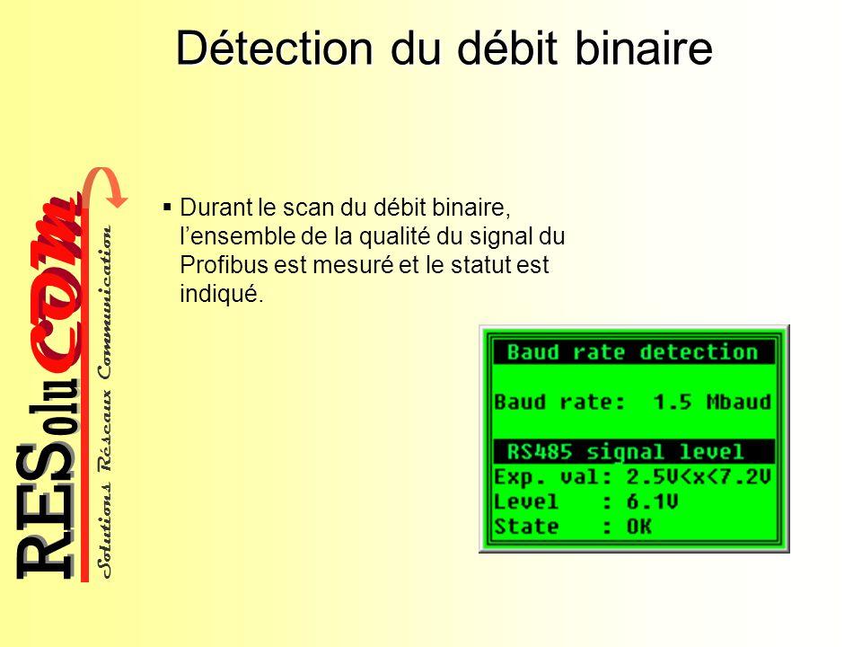 Détection du débit binaire