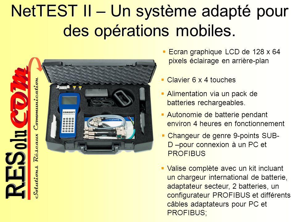 NetTEST II – Un système adapté pour des opérations mobiles.