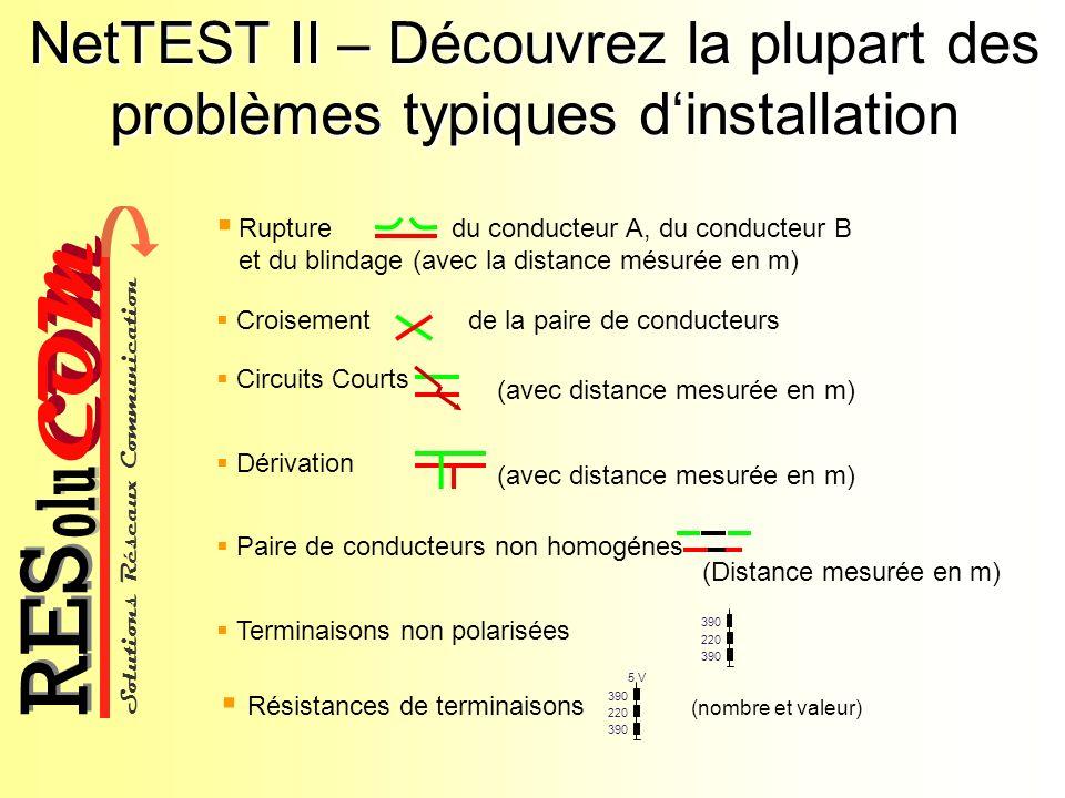 NetTEST II – Découvrez la plupart des problèmes typiques d'installation