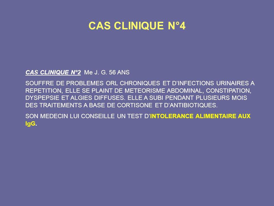 CAS CLINIQUE N°4 CAS CLINIQUE N°2 Me J. G. 56 ANS