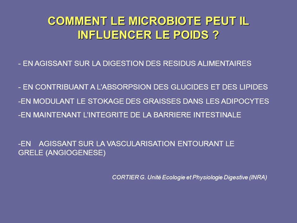 COMMENT LE MICROBIOTE PEUT IL INFLUENCER LE POIDS