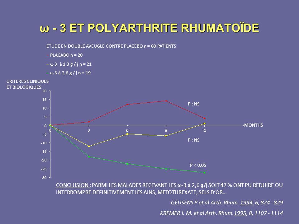 ω - 3 ET POLYARTHRITE RHUMATOÏDE