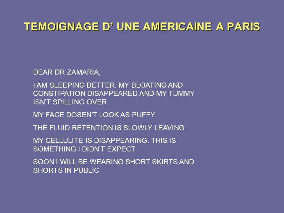 TEMOIGNAGE D' UNE AMERICAINE A PARIS