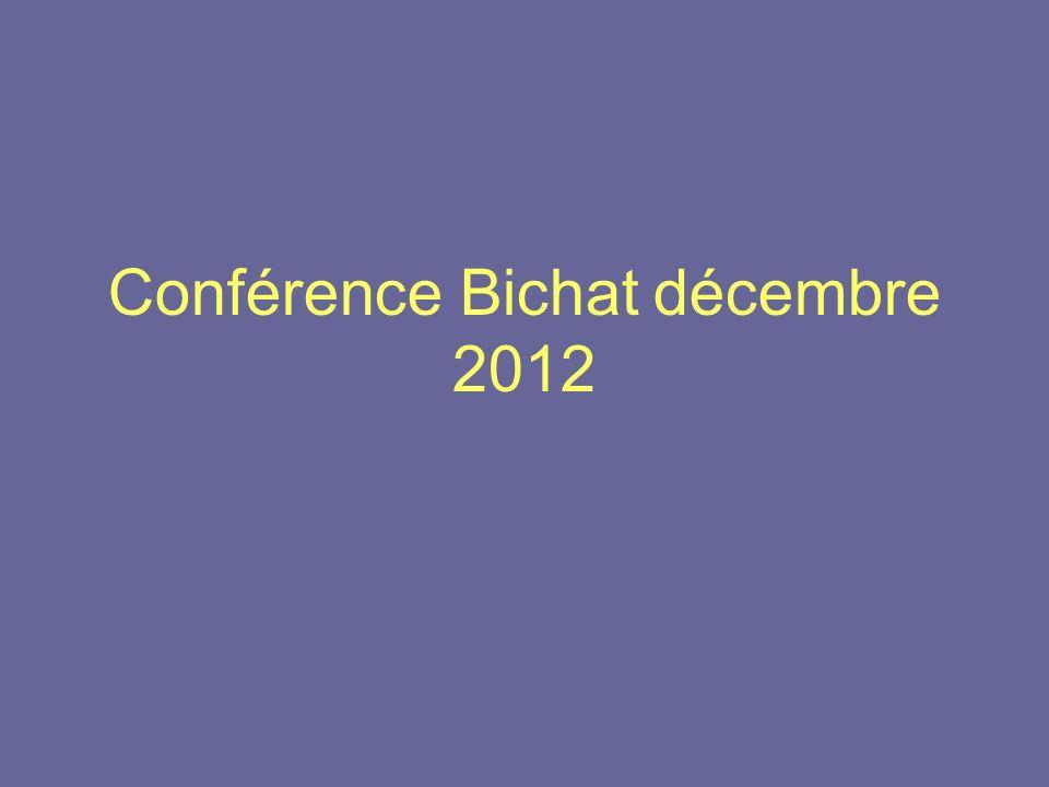 Conférence Bichat décembre 2012