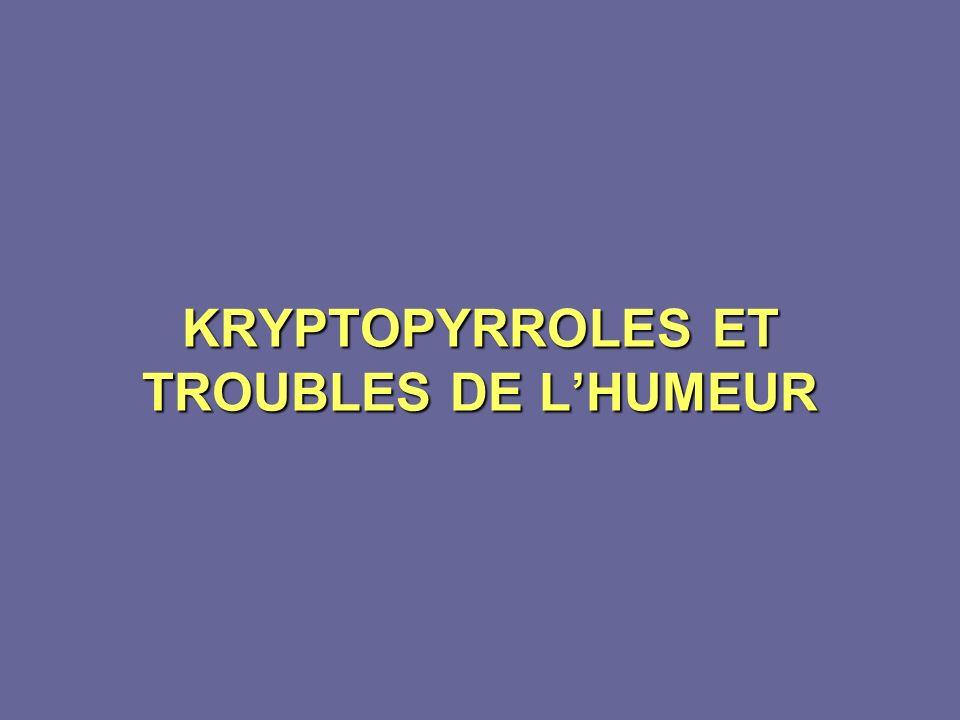 KRYPTOPYRROLES ET TROUBLES DE L'HUMEUR
