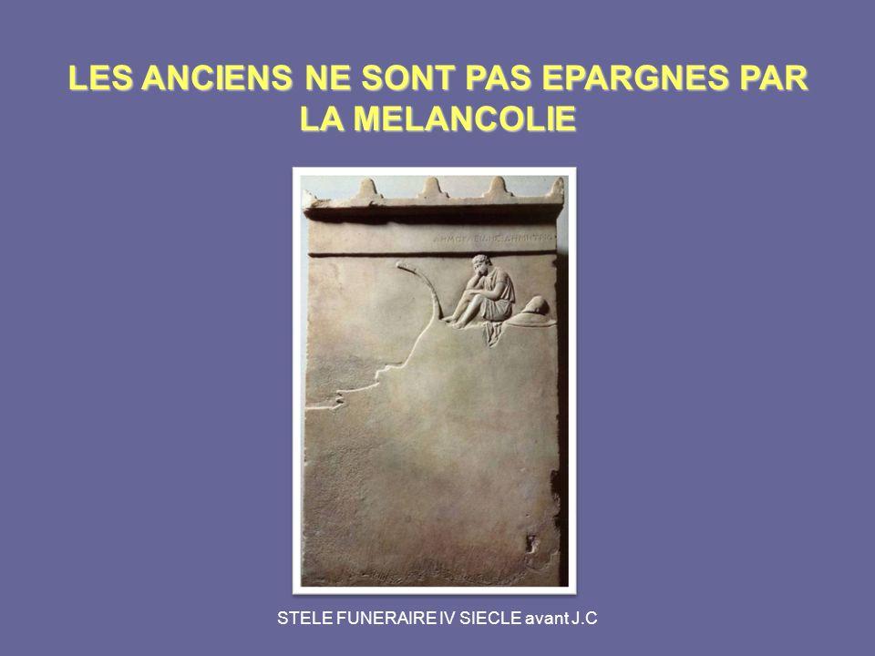 LES ANCIENS NE SONT PAS EPARGNES PAR LA MELANCOLIE