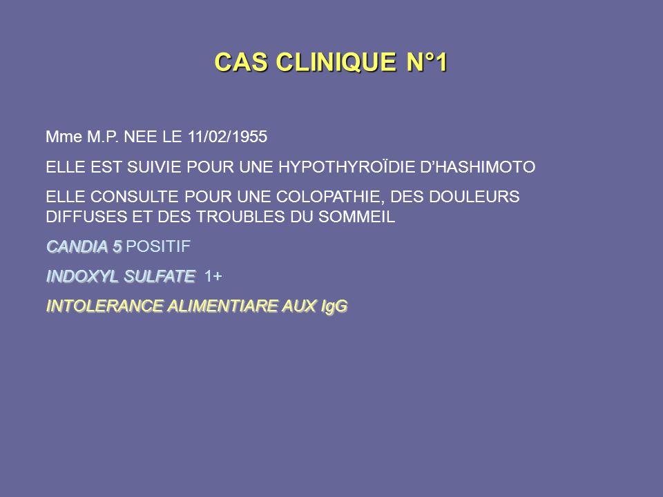 CAS CLINIQUE N°1 Mme M.P. NEE LE 11/02/1955