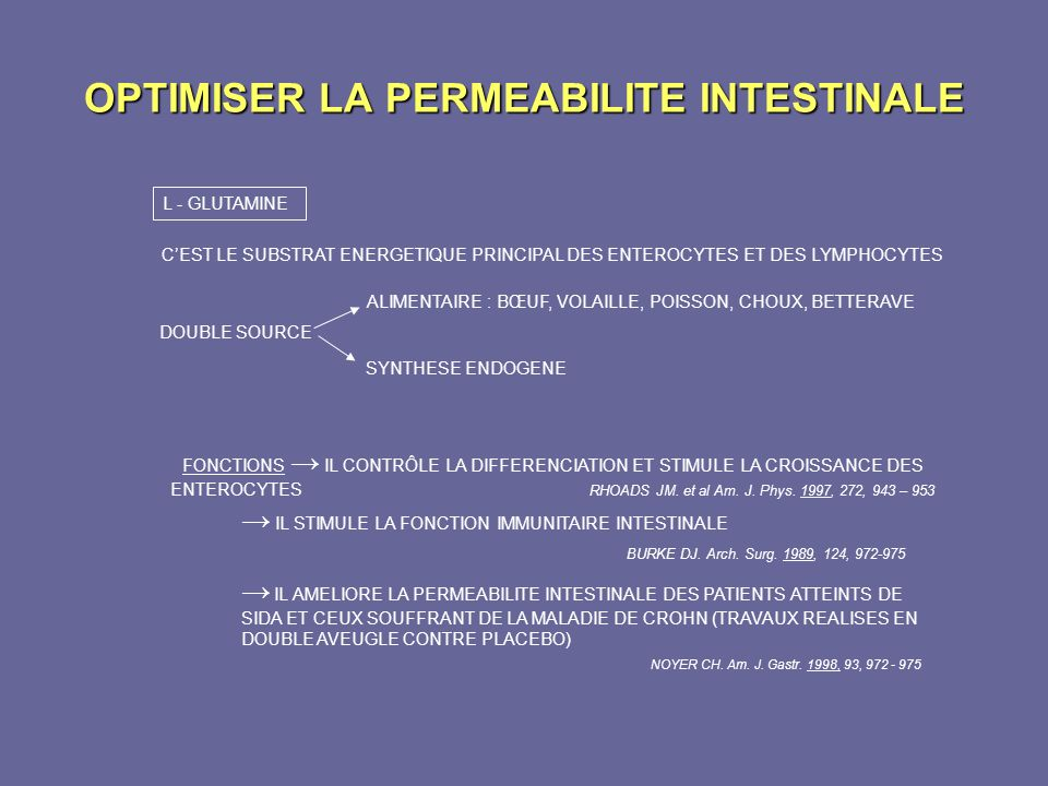 OPTIMISER LA PERMEABILITE INTESTINALE