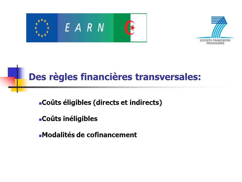 Des règles financières transversales: