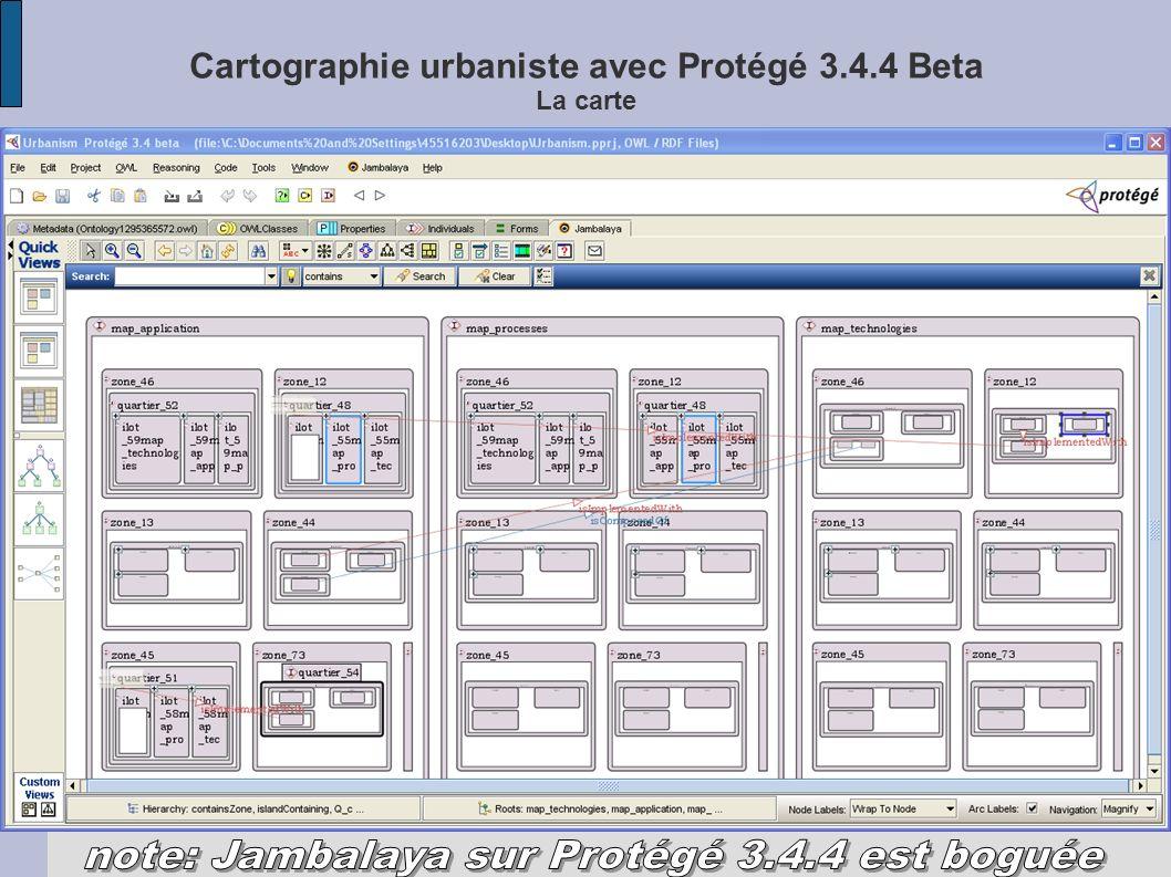 Cartographie urbaniste avec Protégé 3.4.4 Beta La carte