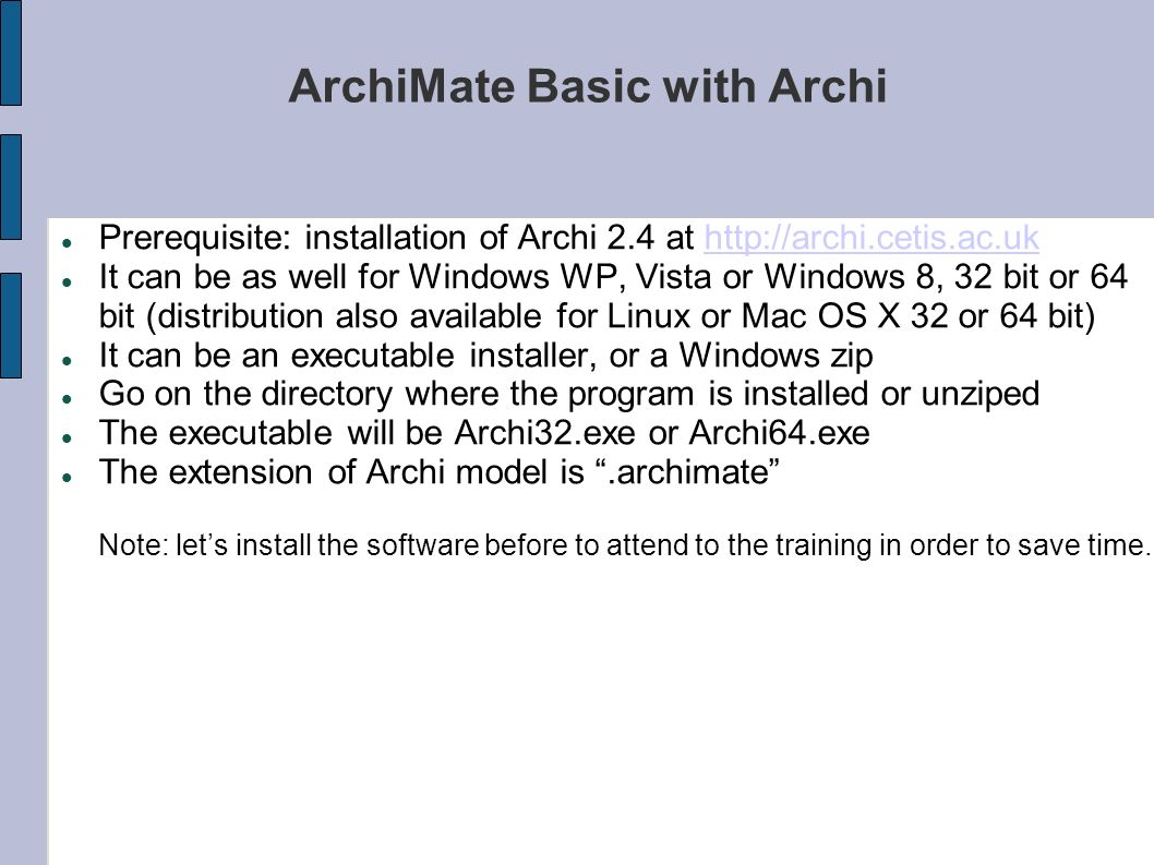 ArchiMate Basic with Archi