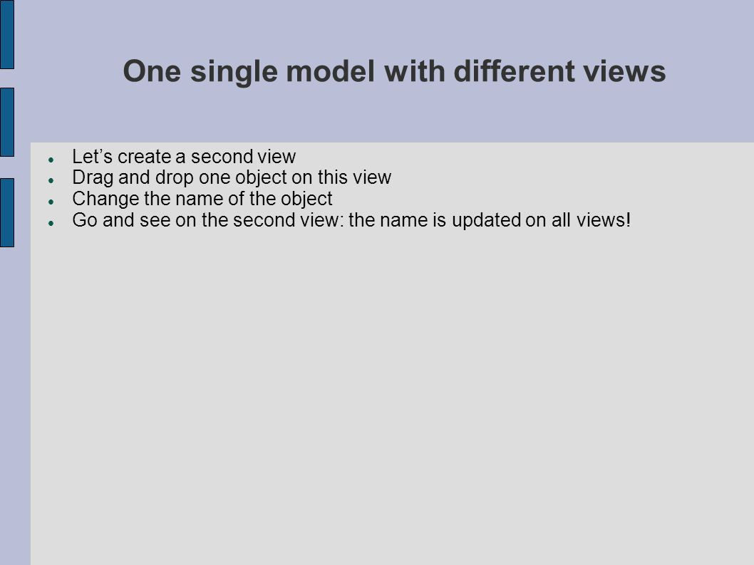 One single model with different views