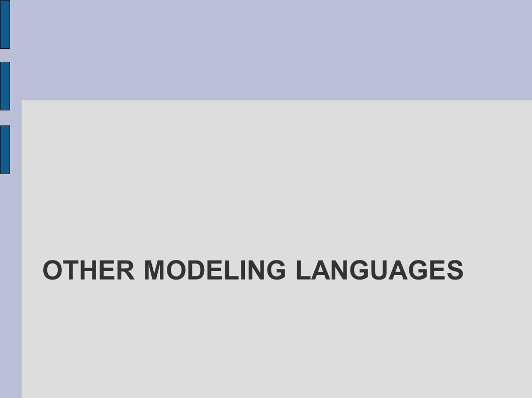 Other modeling languages