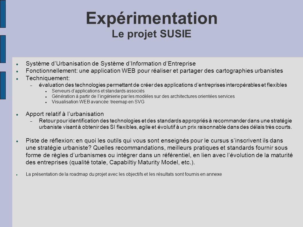 Expérimentation Le projet SUSIE