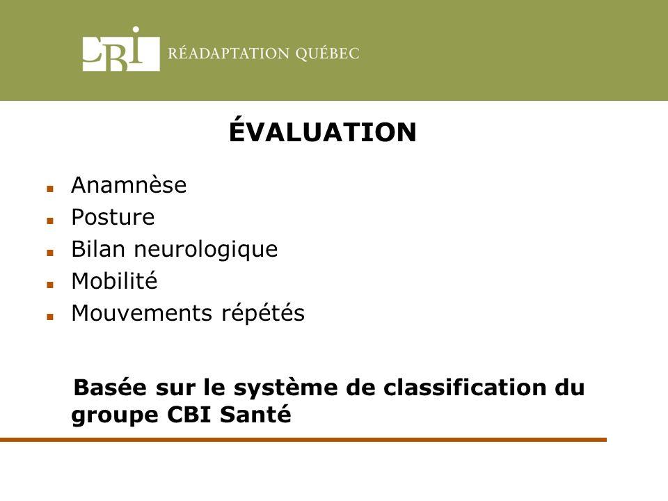 Basée sur le système de classification du groupe CBI Santé