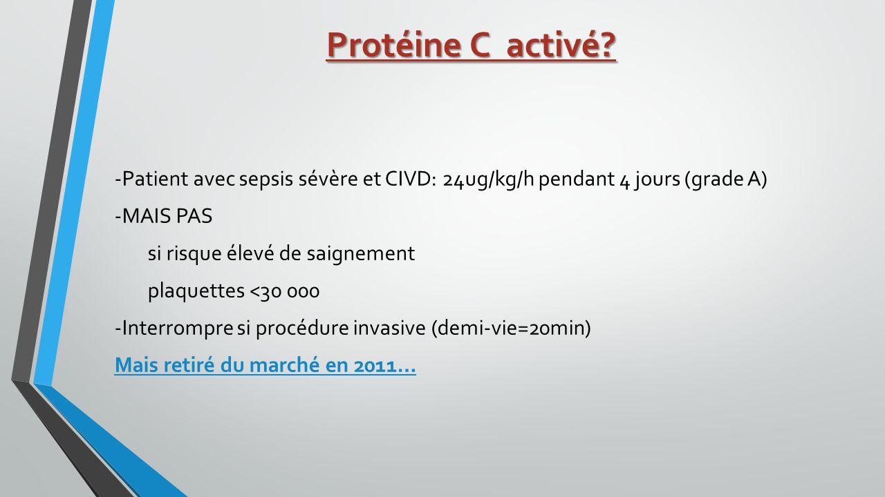 Protéine C activé