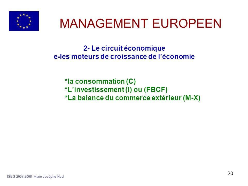 2- Le circuit économique e-les moteurs de croissance de l'économie