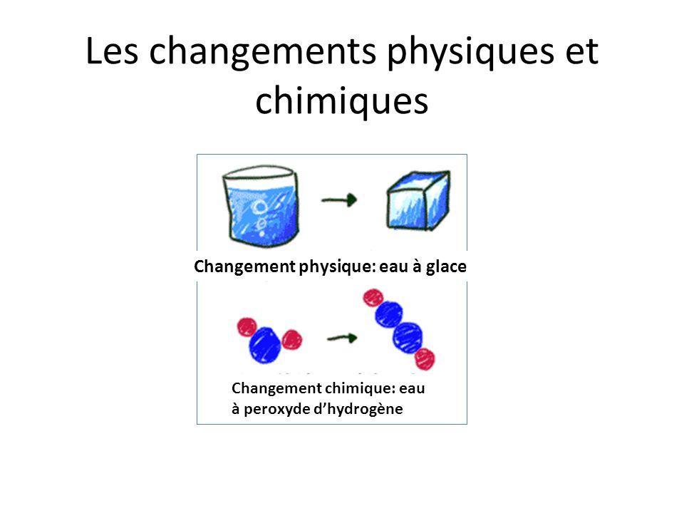 Les changements physiques et chimiques