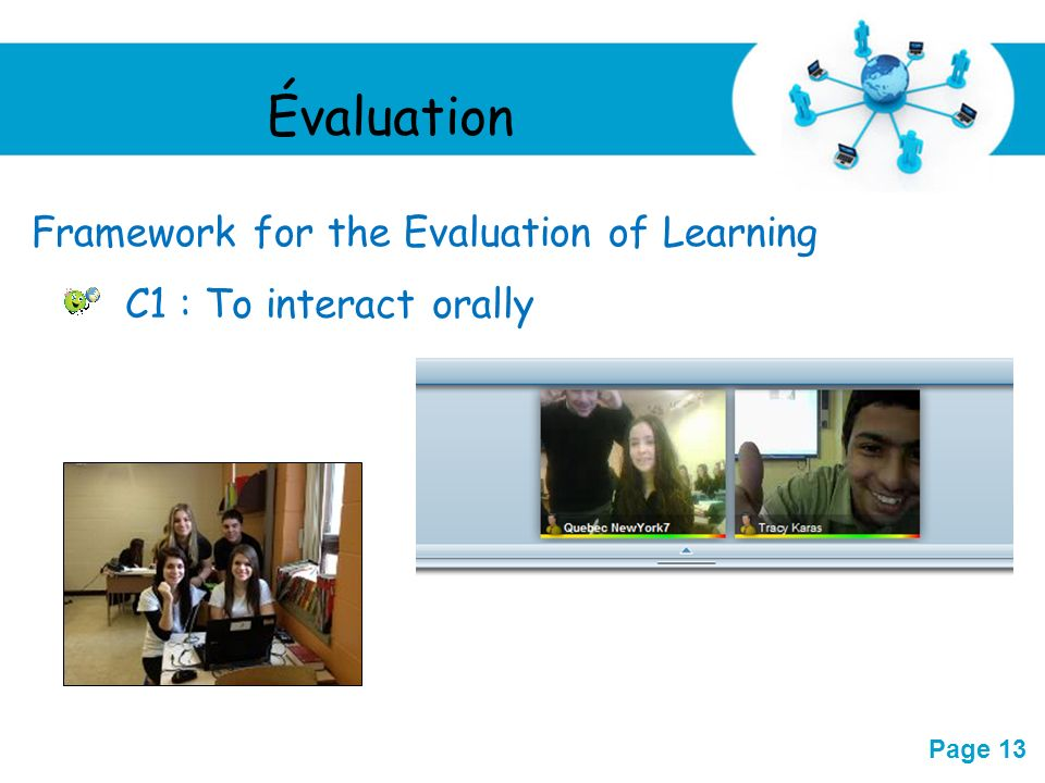 Évaluation Framework for the Evaluation of Learning