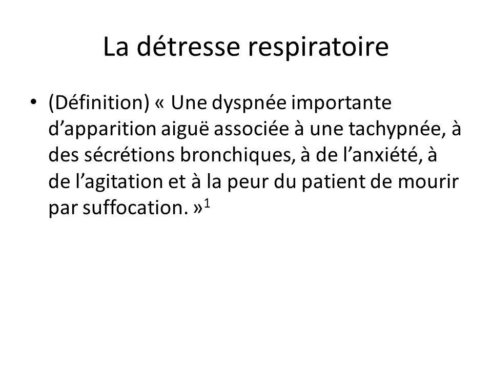La détresse respiratoire