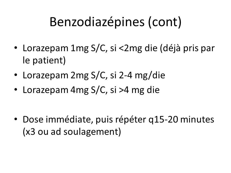 Benzodiazépines (cont)