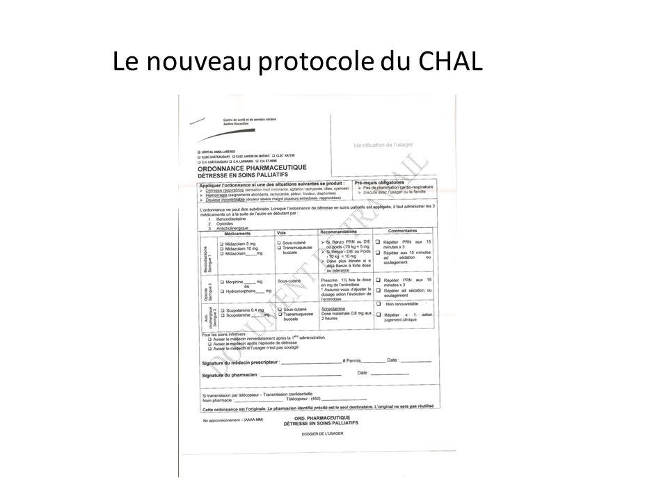 Le nouveau protocole du CHAL