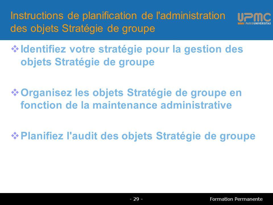 Planifiez l audit des objets Stratégie de groupe