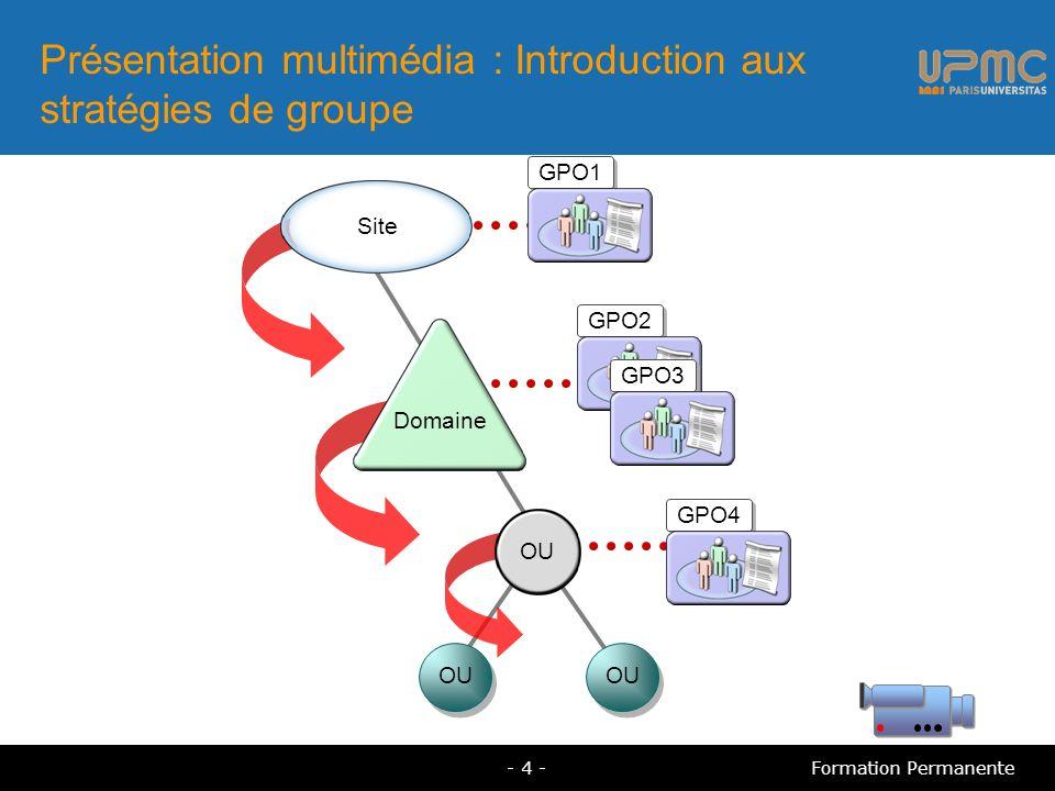 Présentation multimédia : Introduction aux stratégies de groupe
