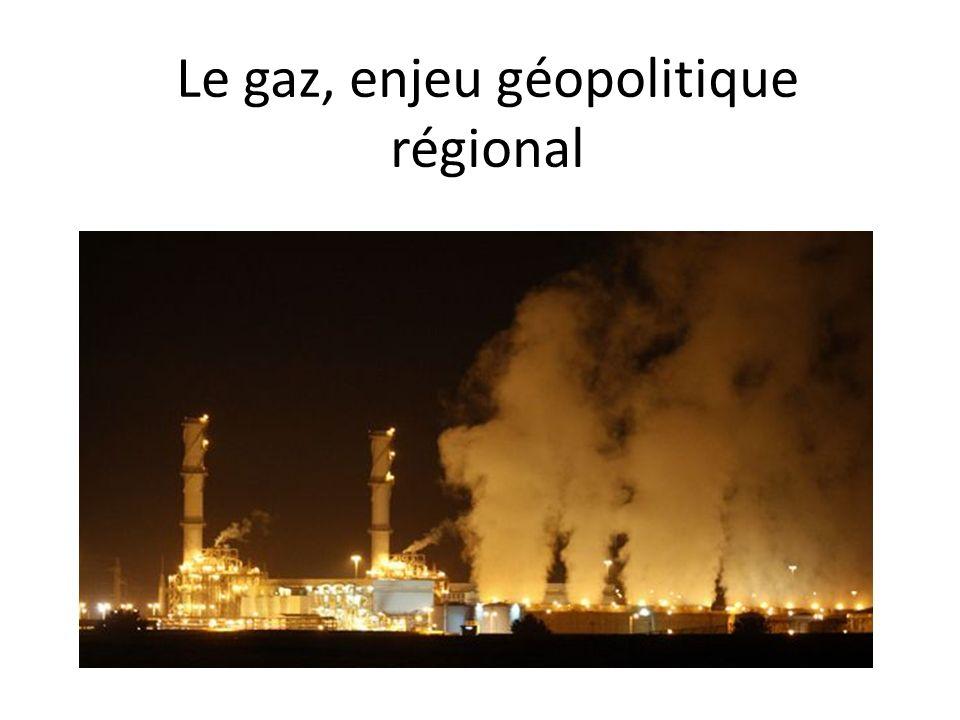 Le gaz, enjeu géopolitique régional