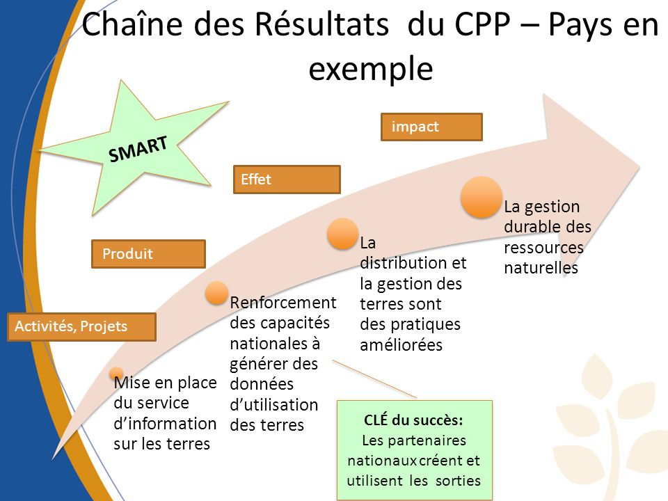 Chaîne des Résultats du CPP – Pays en exemple