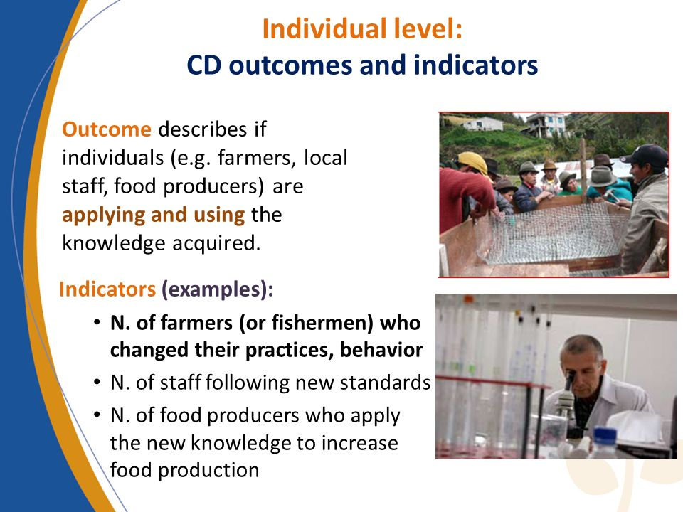 Individual level: CD outcomes and indicators