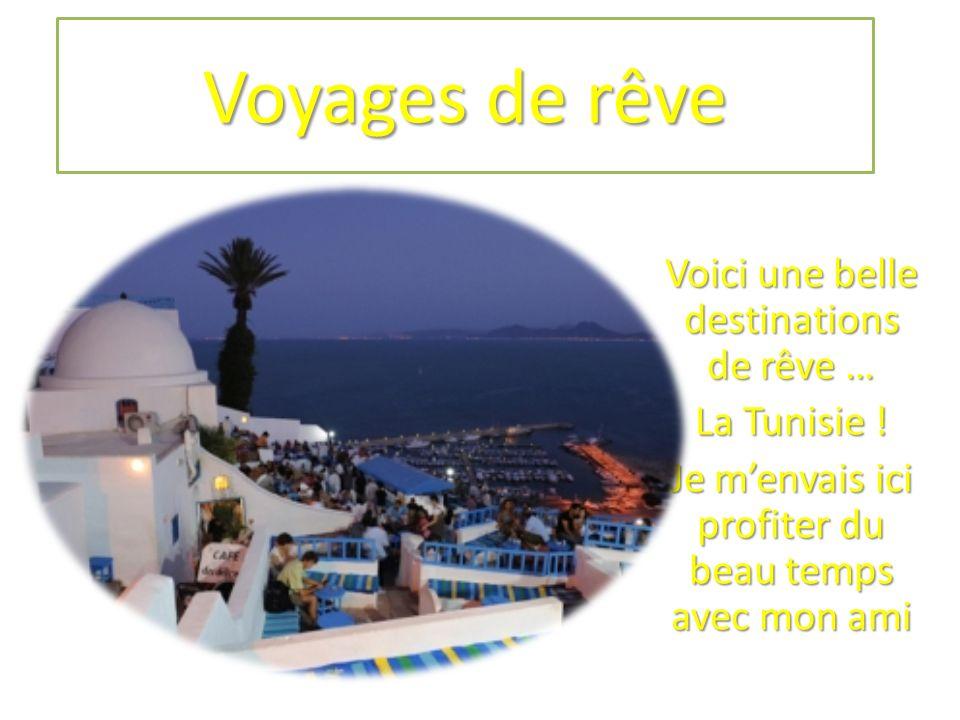 Voyages de rêve Voici une belle destinations de rêve … La Tunisie !