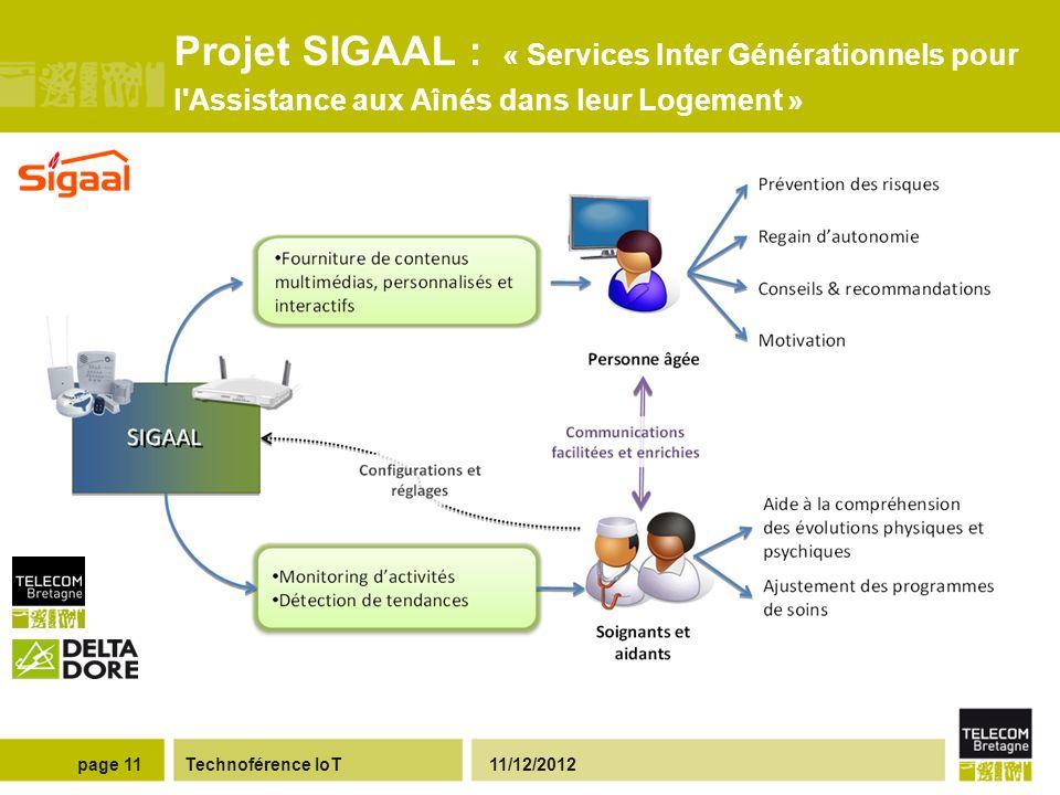 Projet SIGAAL : « Services Inter Générationnels pour l Assistance aux Aînés dans leur Logement »