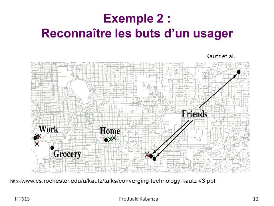 Exemple 2 : Reconnaître les buts d'un usager