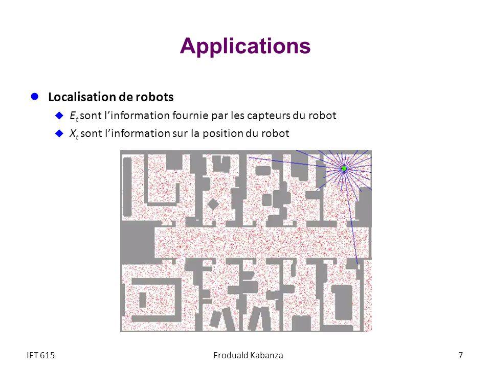 Applications Localisation de robots
