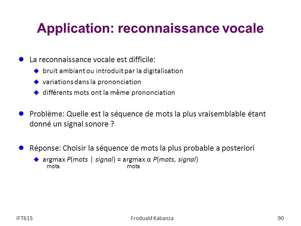Application: reconnaissance vocale