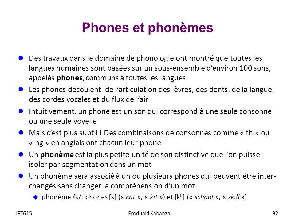 Phones et phonèmes