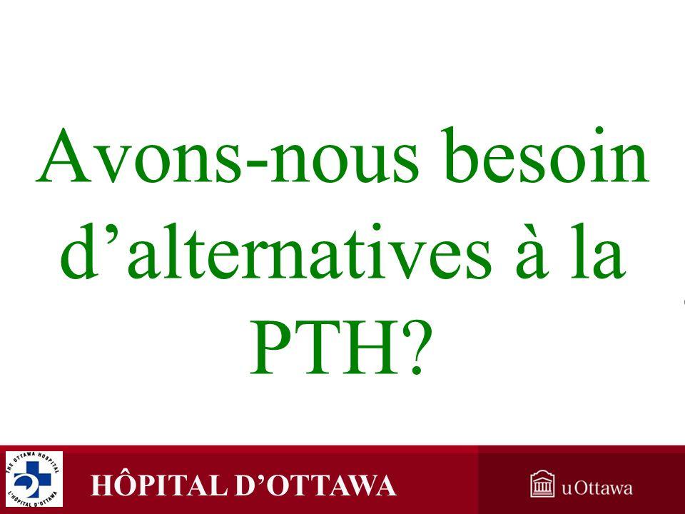Avons-nous besoin d'alternatives à la PTH