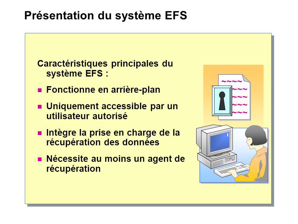 Présentation du système EFS