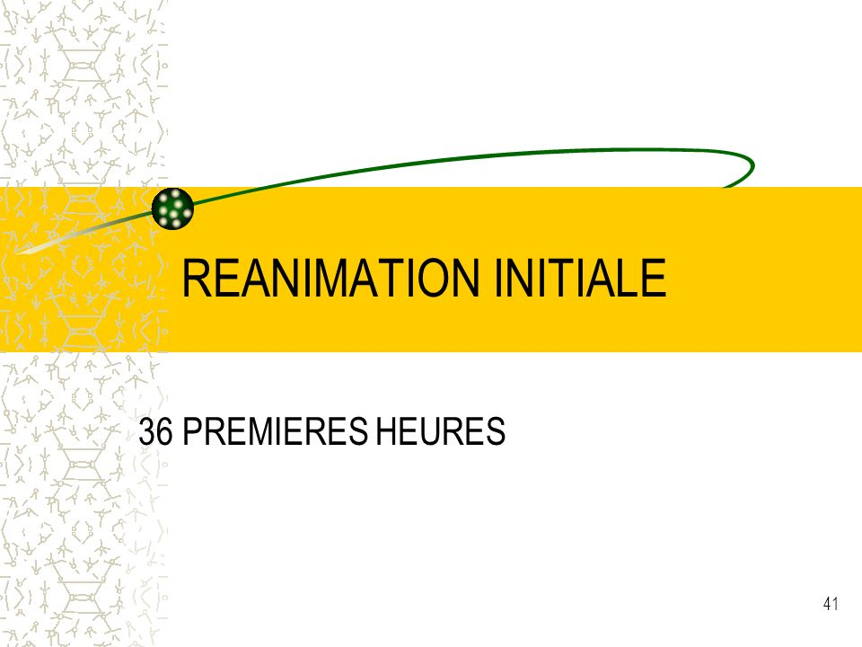 REANIMATION INITIALE 36 PREMIERES HEURES