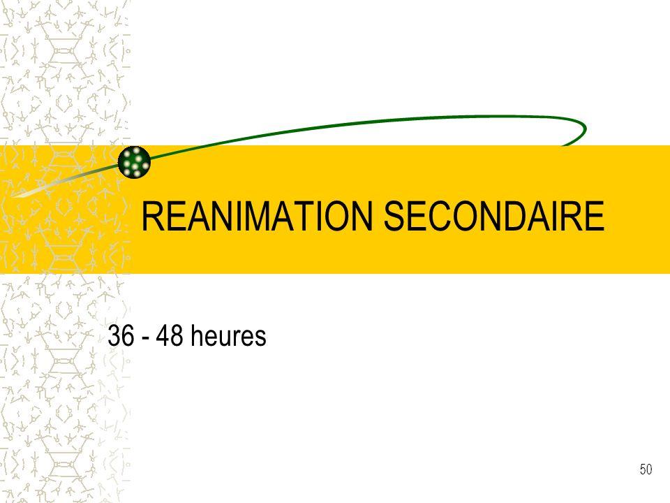 REANIMATION SECONDAIRE