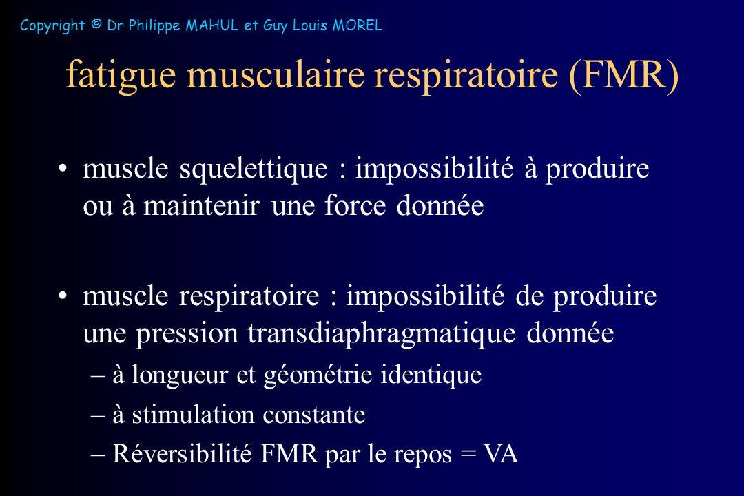 fatigue musculaire respiratoire (FMR)