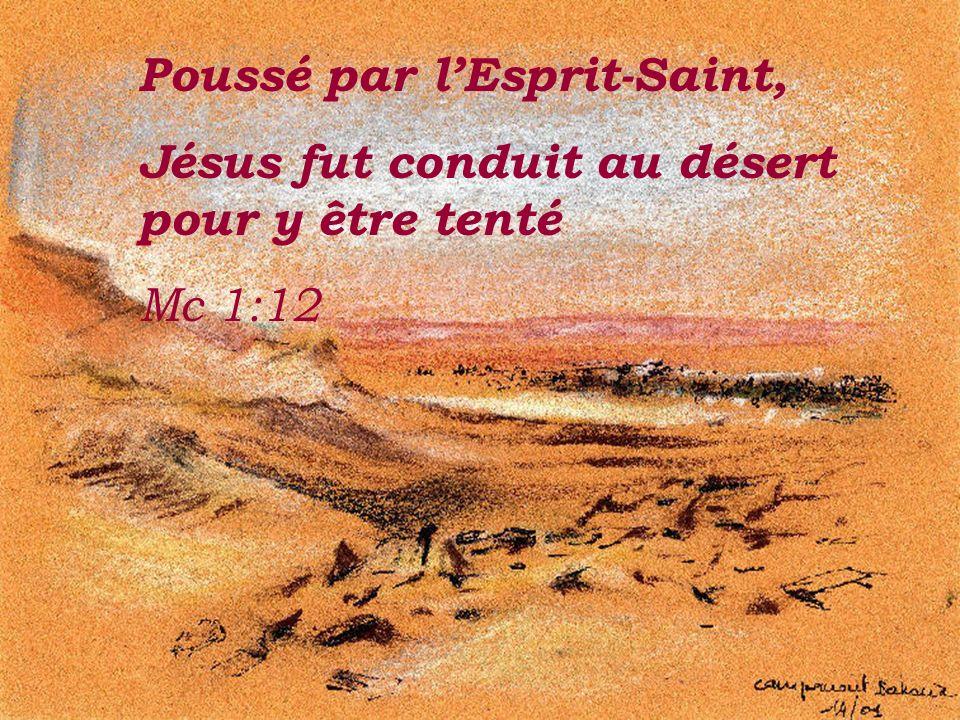 Poussé par l'Esprit-Saint,