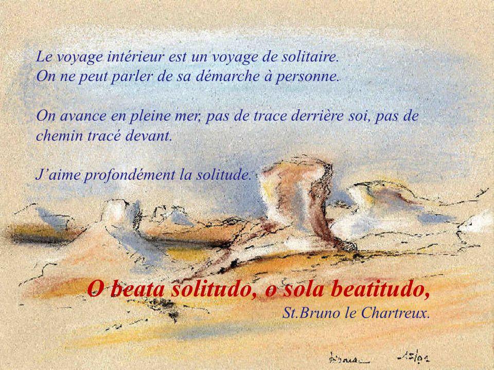 O beata solitudo, o sola beatitudo, St.Bruno le Chartreux.