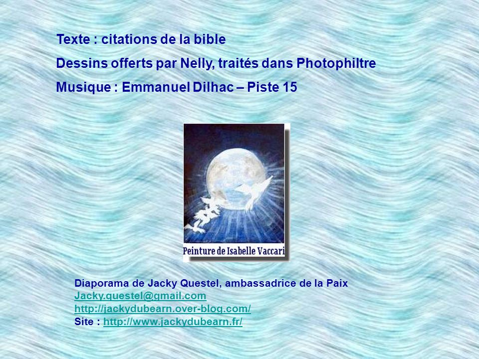 Texte : citations de la bible