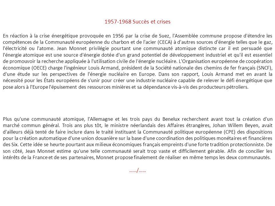 1957-1968 Succès et crises
